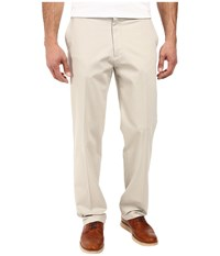 Dockers Signature Stretch Classic Flat Front Cloud Men's Casual Pants White