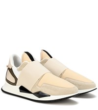 Givenchy Runner Elastic Leather Sneakers Beige
