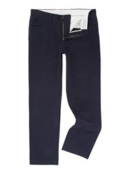 Linea Marius 5 Pocket Twill Trousers Navy