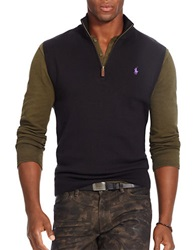 Polo Ralph Lauren Half Zip Supima Cotton Vest Black