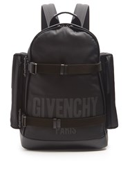 Givenchy Logo Print Canvas Backpack Black