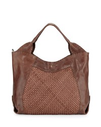 Beverly Woven Double Handle Tote Bag Tan Henry Beguelin