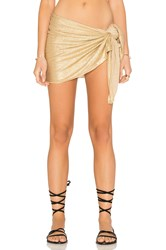 Luli Fama Spirit Of A Fairy Pareo Metallic Gold