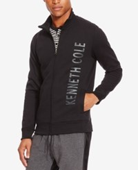 Kenneth Cole Reaction Men's Fleece Logo Jacket Black