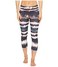 Lucy Studio Hatha Capri Leggings Multi Fire Dance Print Women's Workout