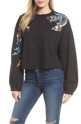 Kas 'S New York Carlisle Embroidered Sweatshirt Black