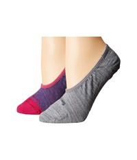 Smartwool Hide And Seek 2 Pack Multicolor 2 Women's No Show Socks Shoes Black