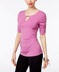 Thalia Sodi Ruched Hardware Top Only At Macy's Juicy Grape