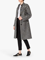 Paul Smith Ps Check Collarless Houndstooth Coat Cream Navy