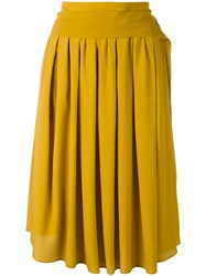 N 21 No21 Tie Fastening Midi Skirt Yellow Orange