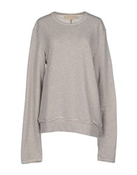 Misericordia Topwear Sweatshirts Women Light Grey