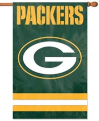 Party Animal Green Bay Packers Applique House Flag Team Color