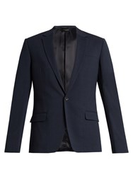 Calvin Klein New Crosby Single Breasted Wool Blend Jacket Navy