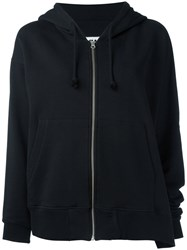 Maison Martin Margiela Mm6 Zipped Hoodie Black