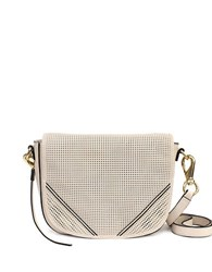She Lo Silver Lining Leather Saddle Bag Nude