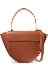 Wandler Hortensia Medium Leather Shoulder Bag Tan