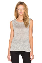 Generation Love Lucy Crystal Chain Tank Gray