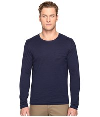Billy Reid Lined Crew Neck Sweater Midnight Men's Sweater Navy