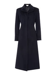 Linea Wool Cashmere Riding Coat Navy