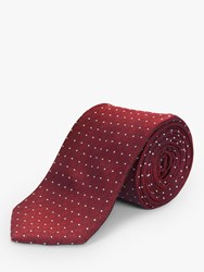 Chester Barrie By Twisted Geometric Spot Silk Tie Red