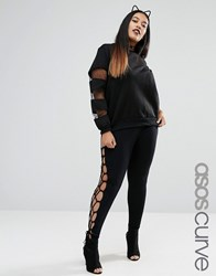 Asos Curve Halloween Lace Up Legging Black