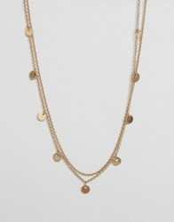Selected Femme Abbi Double Chain Necklace Gold