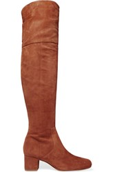 Sam Edelman Elina Suede Over The Knee Boots Tan