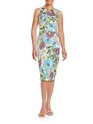 Alexia Admor Printed Split Neck Scuba Dress Paradiso