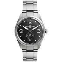 Bell And Ross Brv123 Bl St Sst Men's Vintage Original Automatic Stainless Steel Bracelet Strap Watch Silver