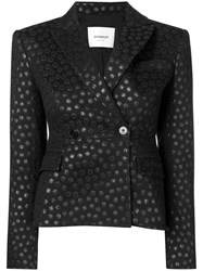 Dondup Dotted Fitted Jacket Black