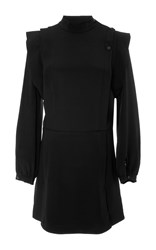 Isabel Marant Bremen Long Sleeve Mini Dress Black
