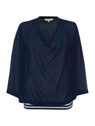 Effortless Stylish Part Two Blouse Blue