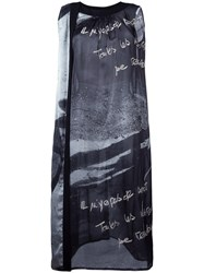 Yohji Yamamoto Vintage Printed Sleeveless Dress Black