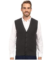 Perry Ellis Solid Sweater Vest Charcoal Heather Men's Vest Gray