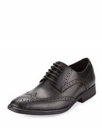 Kenneth Cole Sixty Seconds Leather Wing Tip Oxford Black