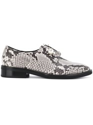 Coliac Sally Snake Print Derby Shoes Grey
