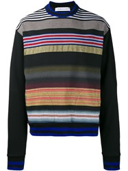 James Long Striped Sweatshirt Black