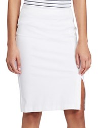 Lauren Ralph Lauren Side Slit Pencil Skirt White