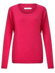 John Lewis Cashmere Blend Scoop Neck Jumper Bright Pink