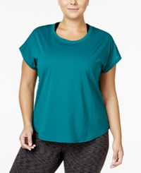 Ideology Plus Size Mesh Back T Shirt Only At Macy's Moonlight Teal