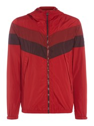 Duck And Cover Pennant Jacket Poppy