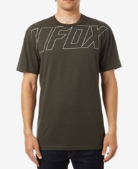 Fox Men's Graphic Print T Shirt Dark Green