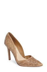 Jessica Simpson Women's Charie Pointy Toe D'orsay Pump Sand Castle Leather