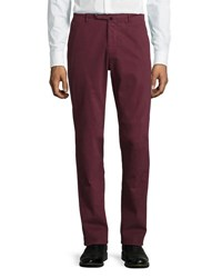 Benn Standard Fit Stretch Cotton Pants Burgundy
