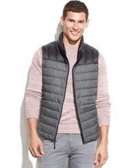 Hawke And Co. Outfitter Lightweight Packable Down Vest Black Dark Heather Grey