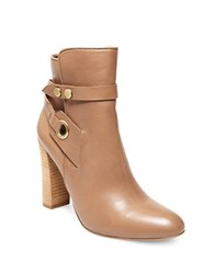 Design Lab Lord And Taylor Shea Leather Ankle Boots Taupe