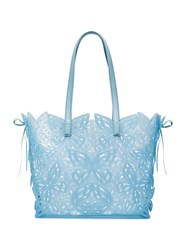 Sophia Webster Liara Jelly Butterfly Tote Calf Leather Pvc Blue