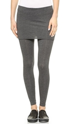 Splendid Fold Over Leggings Charcoal