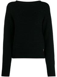 Patrizia Pepe Knitted Jumper Black