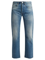 Raey Rip Distressed Pocket Jeans Indigo
